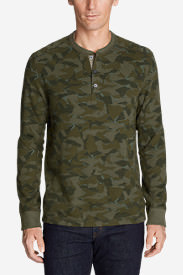 Men's Eddie's Favorite Thermal Henley - Printed in Green