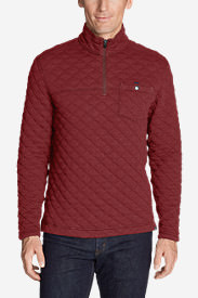 Men's Fortify Quilted 1/4-Zip Pullover in Red
