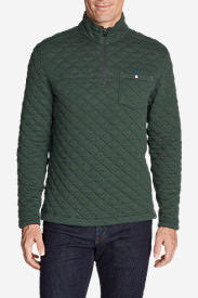 Men's Fortify Quilted 1/4-Zip Pullover in Green