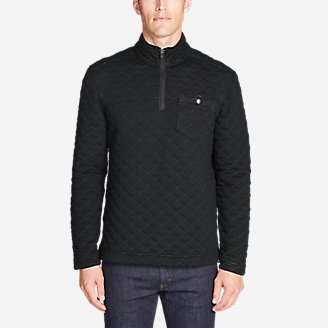 Men's Fortify Quilted 1/4-Zip Pullover in Black