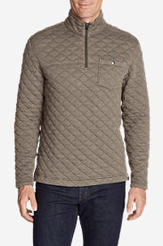 Men's Fortify Quilted 1/4-Zip Pullover in Beige