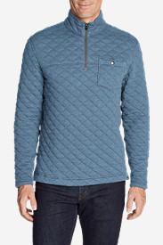 Men's Fortify Quilted 1/4-Zip Pullover in Blue