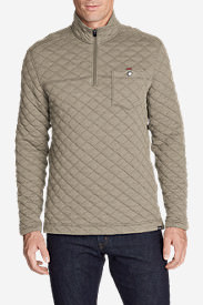Men's Fortify Quilted 1/4-Zip Pullover in Beige