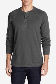 Men's Basin Long-Sleeve Henley Shirt in Gray