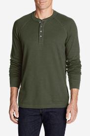 Men's Basin Long-Sleeve Henley Shirt in Green