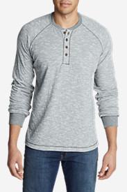 Men's Basin Long-Sleeve Henley Shirt in Blue