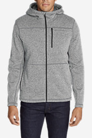 Men's Radiator Full-Zip Sherpa Fleece Hoodie in Gray