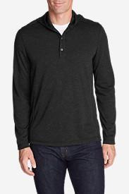 Men's Voyager Hooded Henley in Black