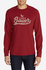 Men's Eddie's Favorite Thermal - Classic Crew in Red