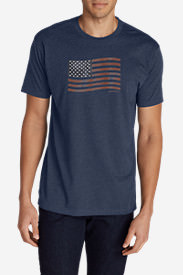 Men's Graphic T-Shirt - Classic Flag in Blue