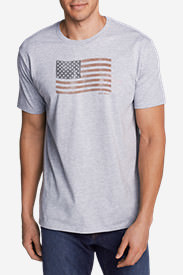 Men's Graphic T-Shirt - Classic Flag in Gray