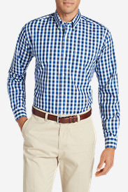 Men's Wrinkle-Free Slim Fit Pinpoint Oxford Shirt - Blues in Blue
