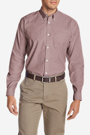 Men's Wrinkle-Free Relaxed Fit Oxford Cloth Shirt - Solid in Brown