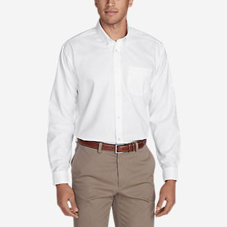 Men's Wrinkle-Free Relaxed Fit Oxford Cloth Shirt - Solid in White
