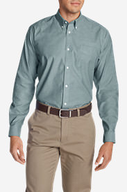 Men's Wrinkle-Free Relaxed Fit Oxford Cloth Shirt - Solid in Green