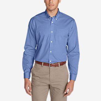 Men's Wrinkle-Free Classic FIt Pinpoint Oxford Shirt - Solid in Blue