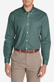 Men's Wrinkle-Free Classic FIt Pinpoint Oxford Shirt - Solid in Green