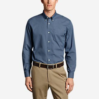 Men's Wrinkle-Free Classic Fit Pinpoint Oxford Shirt - Blues in Blue