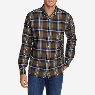 Men's Eddie's Favorite Flannel Relaxed Fit Shirt - Plaid in Brown