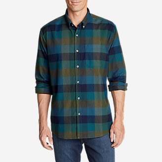 Men's Eddie's Favorite Flannel Relaxed Fit Shirt - Plaid in Green