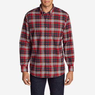 Men's Eddie's Favorite Flannel Relaxed Fit Shirt - Plaid in Red