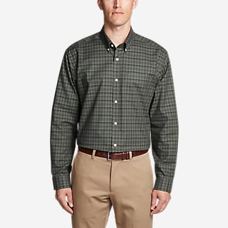 Men's Wrinkle-Free Relaxed Fit Oxford Cloth Shirt - Pattern in Green