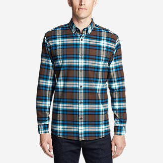 Men's Eddie's Favorite Flannel Slim Fit Shirt in Brown