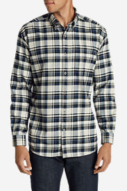 Men's Eddie's Favorite Flannel Slim Fit Shirt in Beige