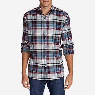 Men's Eddie's Favorite Flannel Slim Fit Shirt in Gray