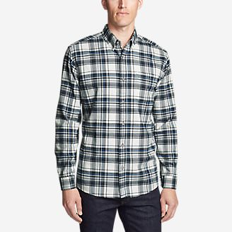 Men's Eddie's Favorite Flannel Slim Fit Shirt in Gray
