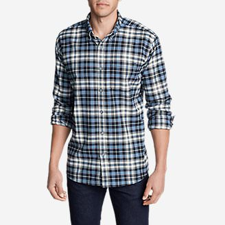Men's Eddie's Favorite Flannel Slim Fit Shirt in Blue