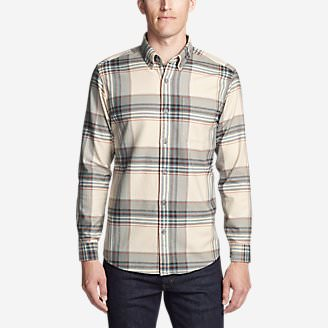Men's Eddie's Favorite Flannel Slim Fit Shirt in Beige