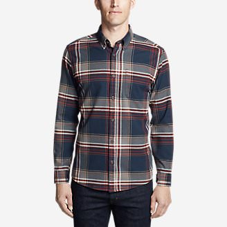 Men's Eddie's Favorite Flannel Slim Fit Shirt in Blue