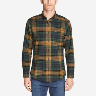 Men's Eddie's Favorite Flannel Slim Fit Shirt in Green