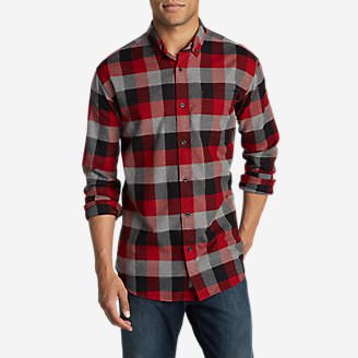 Men's Eddie's Favorite Flannel Slim Fit Shirt in Red