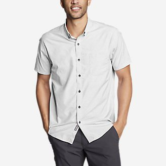 Men's On The Go Short-Sleeve Poplin Shirt in Gray
