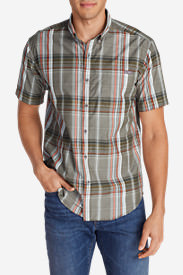 Men's On The Go Short-Sleeve Poplin Shirt in Brown