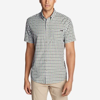 Men's On The Go Short-Sleeve Poplin Shirt in Green