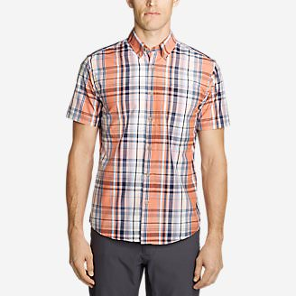 Men's On The Go Short-Sleeve Poplin Shirt in Orange