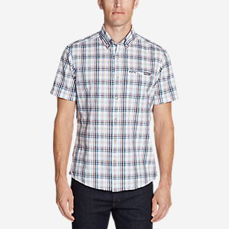 Men's Bainbridge Short-Sleeve Seersucker Shirt in White