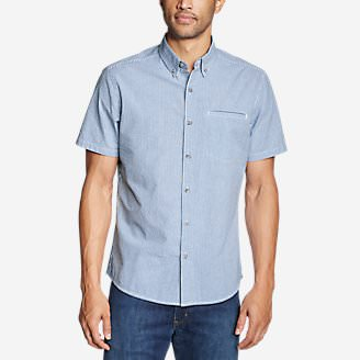 Men's Bainbridge Short-Sleeve Seersucker Shirt in Blue