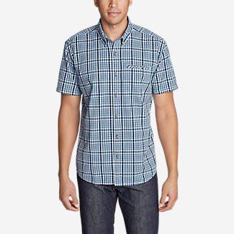 Men's Bainbridge Short-Sleeve Seersucker Shirt in Blue