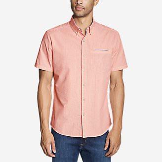 Men's Bainbridge Short-Sleeve Seersucker Shirt in Orange