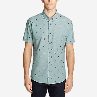 Men's Grifton Short-Sleeve Shirt - Print in Green