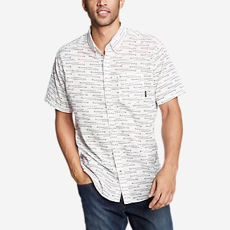 Men's Baja Short-Sleeve Shirt - Print in White