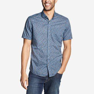 Men's Baja Short-Sleeve Shirt - Print in Blue