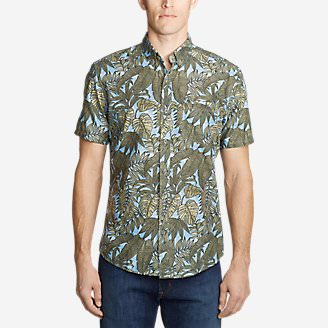 Men's Baja Short-Sleeve Shirt - Print in Blue