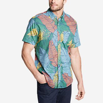 Men's Baja Short-Sleeve Shirt - Print in Green