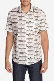 Men's Baja Short-Sleeve Shirt - Print in White