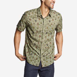 Men's Baja Short-Sleeve Shirt - Print in Green